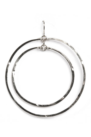 Hammered Double Circle-Silver