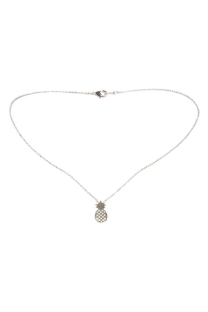 Pineapple Necklace-Silver