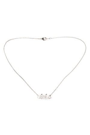 Aloha Necklace-Silver