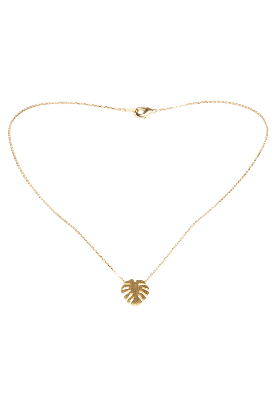 Monstera Necklace-Gold