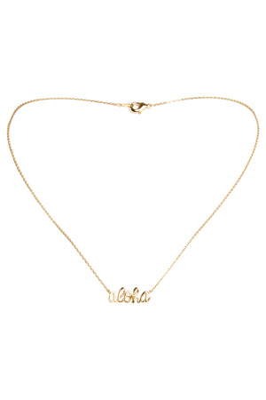 Aloha Necklace-Gold