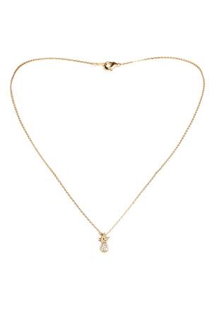 Dainty Diamond Pineapple Necklace-Gold