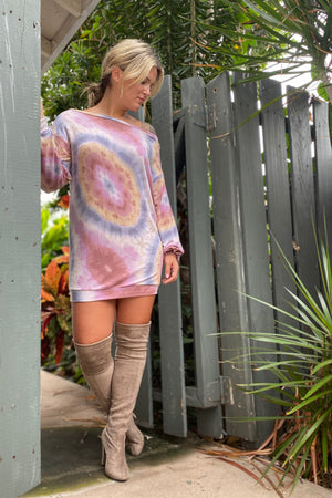 Tie Dye Sweater Dress