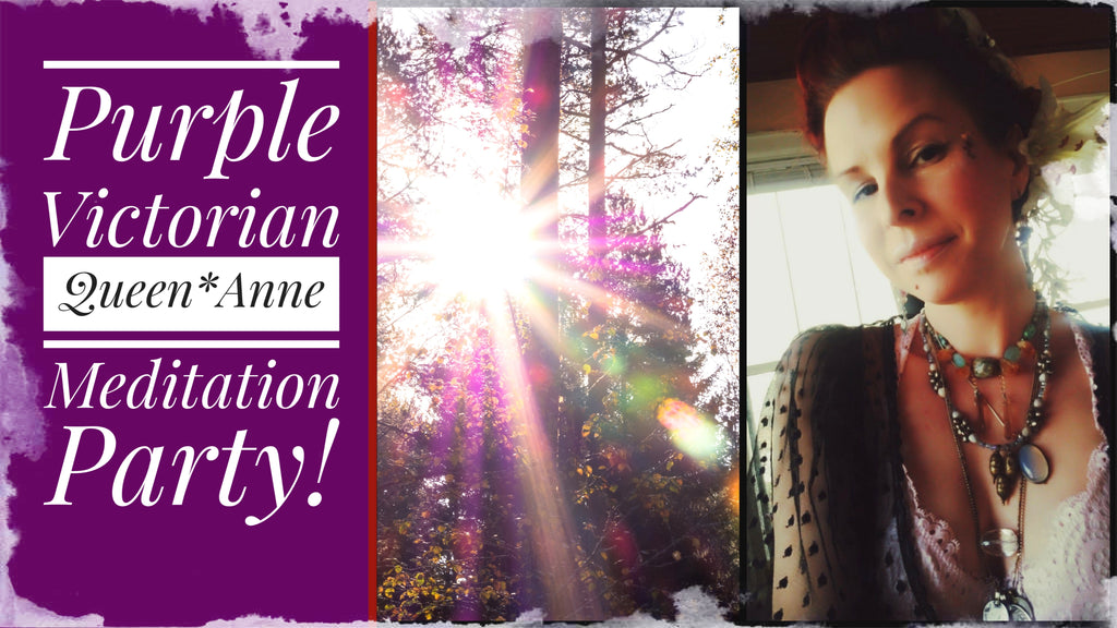 Purple Victorian Meditation House Party - Meet The House, Root and Sacral Chakra Rooms!