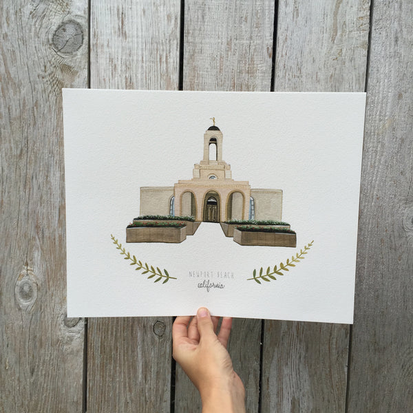 Newport Beach LDS Temple Print