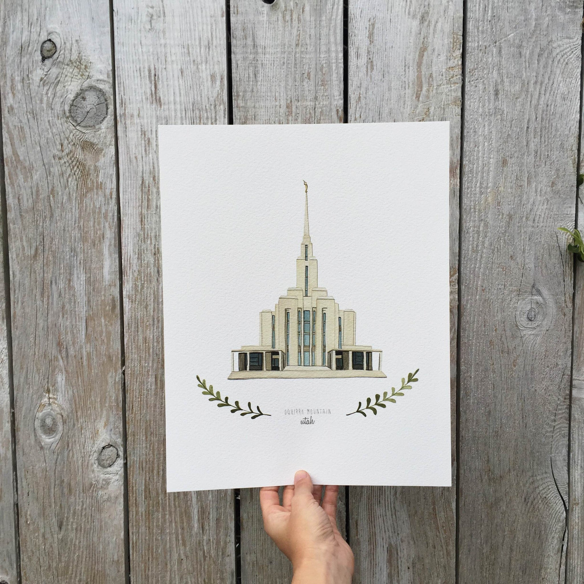Oquirrh Mountain LDS Temple Print