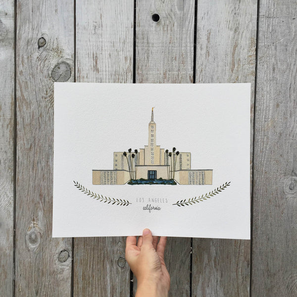 Los Angeles LDS Temple Print