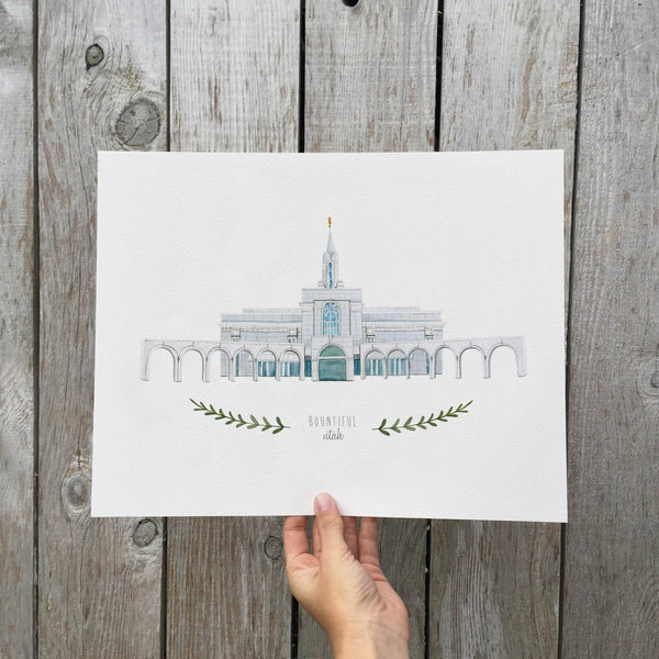 Bountiful LDS Temple Print