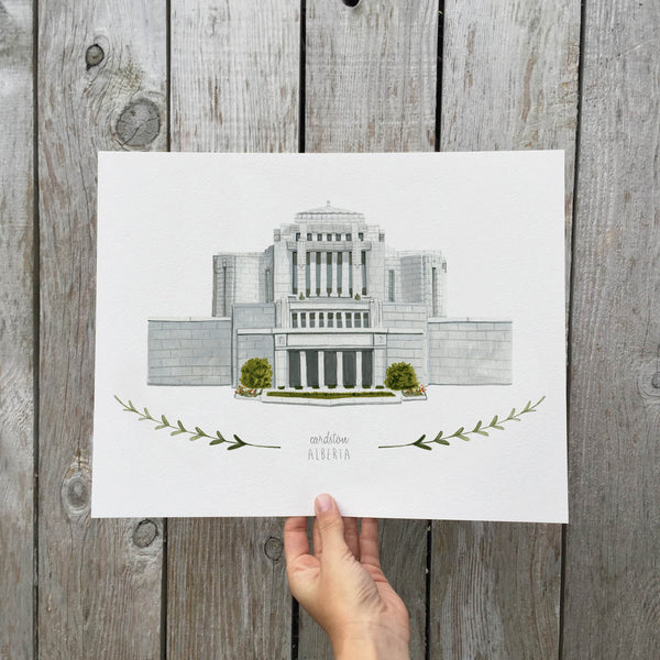 Cardston Alberta LDS Temple Print