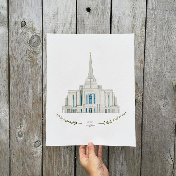 Gilbert LDS Temple Print
