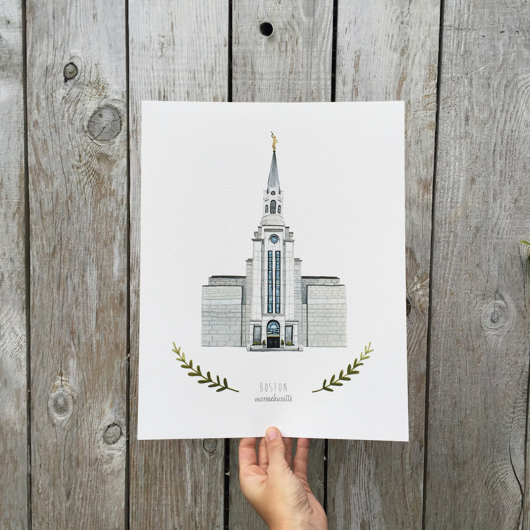 Boston LDS Temple Print