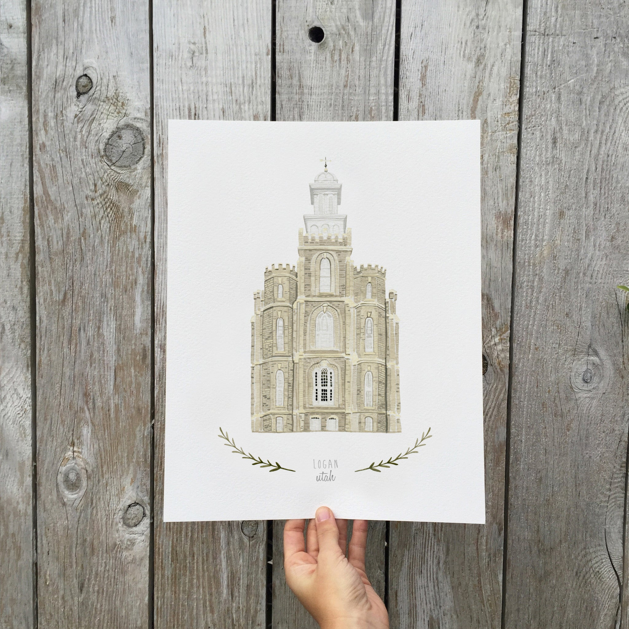 Logan LDS Temple Print