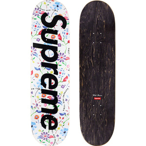 Supreme Airbrushed Floral Skateboard Deck White - World Wide Drip