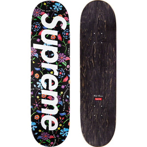 Supreme Airbrushed Floral Skateboard Deck Black - World Wide Drip