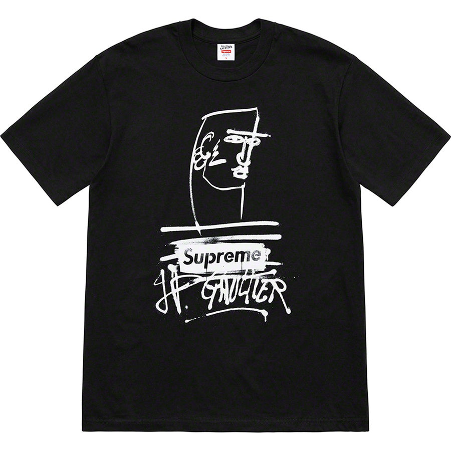 Supreme x Jean Paul Gaultier Tee Black - World Wide Drip