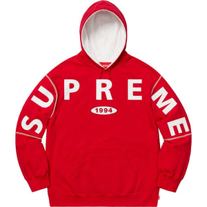 Supreme Spread Logo Hooded Sweatshirt Red