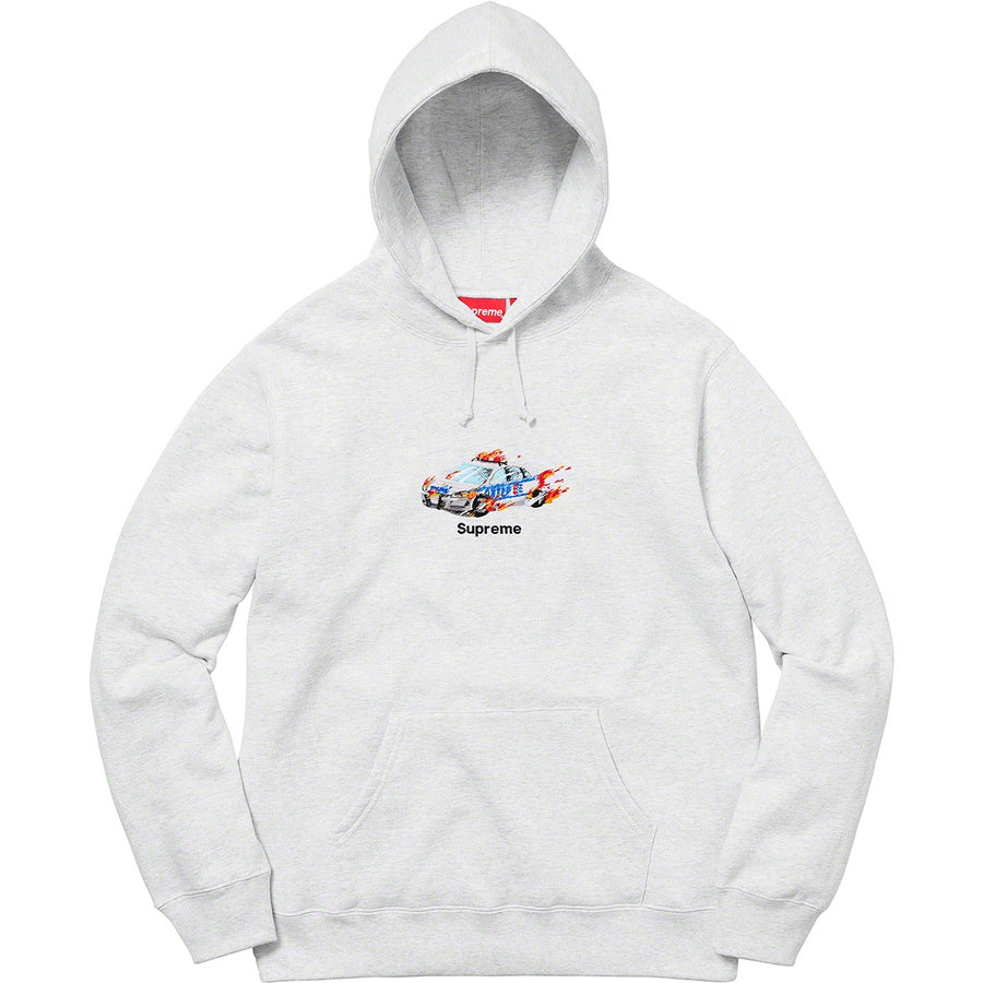 Supreme Cop Car Hooded Sweatshirt Ash Grey