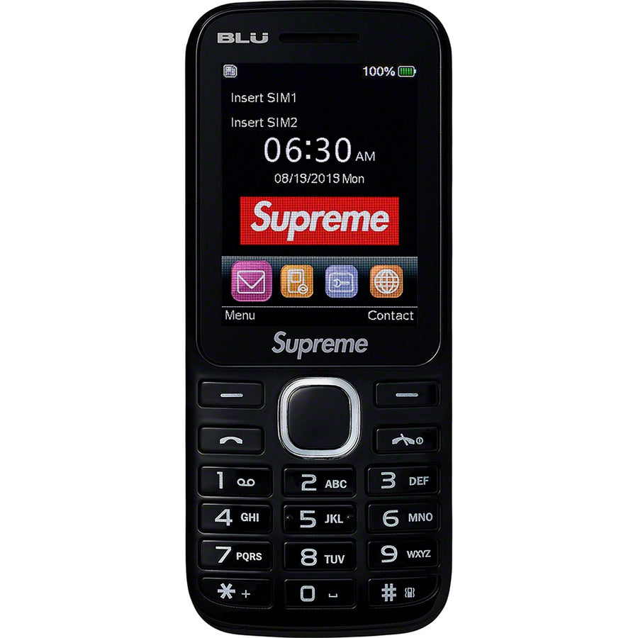 Supreme BLU Burner Phone Black