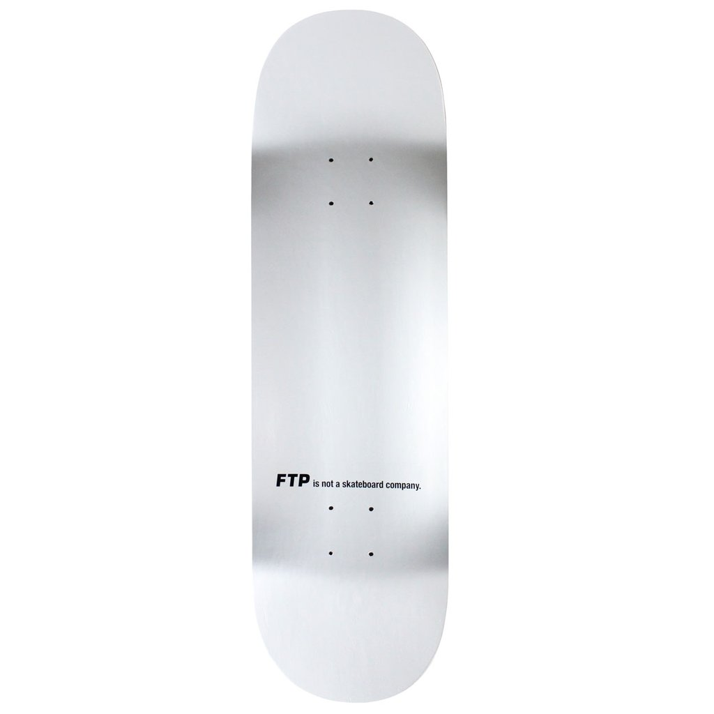 FTP Logo Skateboard Deck Silver - World Wide Drip