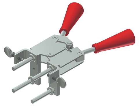 thermoweld red handle clamps