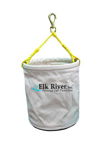 elk river white canvas tool bucket yellow rope