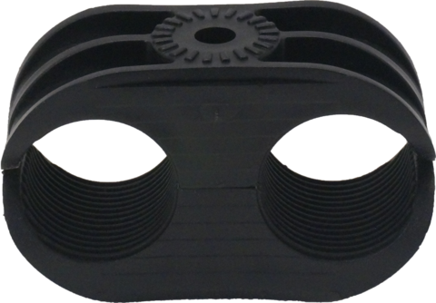 Black plastic coax block