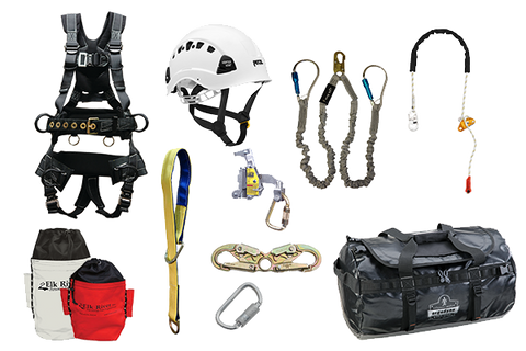 Tower climbing kit peregrine harness hot shot
