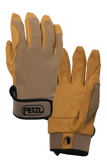 petzl cordex lightweight belay repel gloves tan
