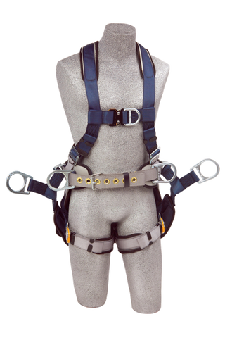 Front view exofit simple climbing harness