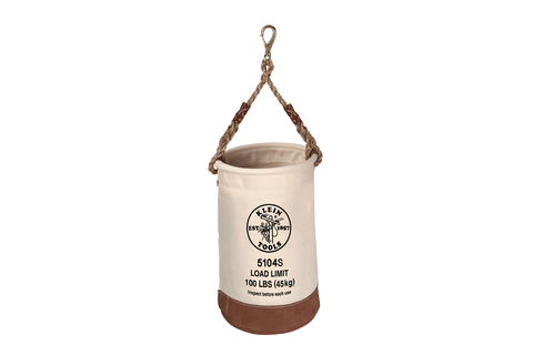 Klein Leather Bottom Bucket, Swivel Snap