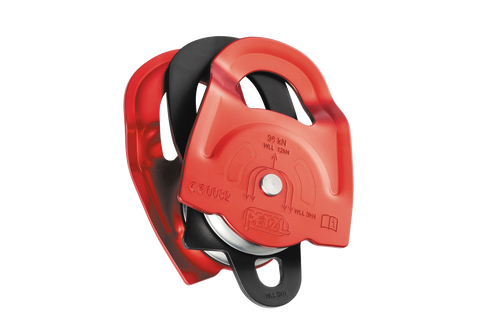 petzl twin double pulley red rescue
