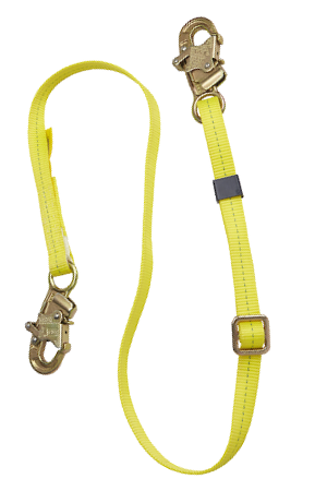 yellow dbi web adjustable positioning lanyard