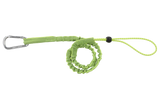 Green single carabiner tool lanyard