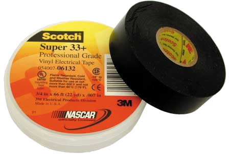 "Scotch Super 33+ Vinyl Electrical Tape, 3/4"" x 66'"