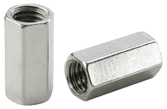 Stainless Coupling Hex Nut (Coarse Thread)