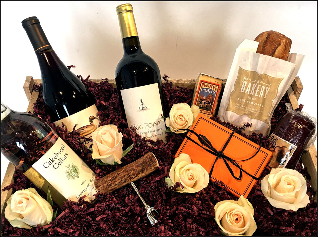 Wine and Roses custom gift package