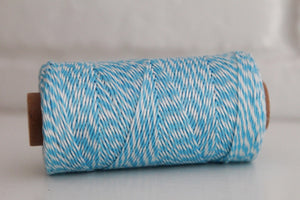 Divine Twine™ Bamboo Striped Blue Twine for Crafts, Scrapbooks and Packaging