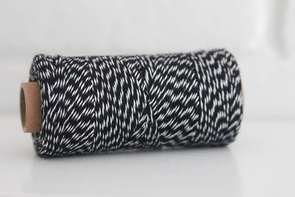 Divine Twine™ Bamboo Striped Black Twine for Crafts, Scrapbooks and Packaging