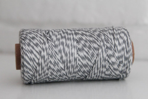 Divine Twine™ Bamboo Striped Gray Twine for Crafts, Scrapbooks and Packaging