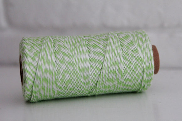 Divine Twine™ Bamboo Striped Green Twine for Crafts, Scrapbooks and Packaging