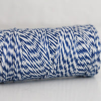 Divine Twine™ Bamboo Striped Navy Twine for Crafts, Scrapbooks and Packaging