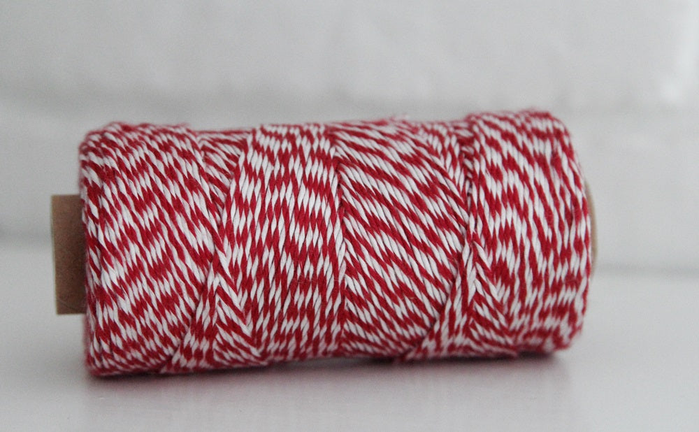 Divine Twine™ Bamboo Striped Red Twine for Crafts, Scrapbooks and Packaging