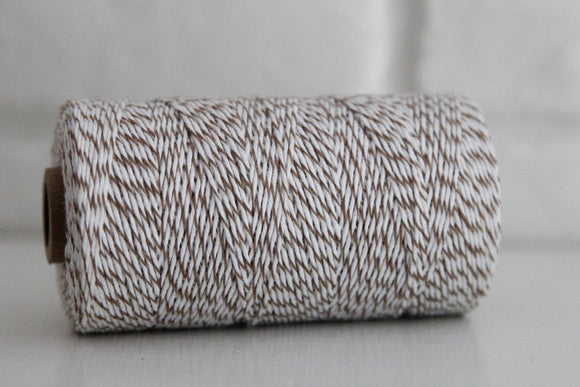 Divine Twine™ Striped Brown Sugar Cotton Twine for Crafts, Scrapbooks and Packaging