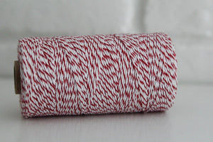 Divine Twine™ Striped Cherry Cotton Twine for Crafts, Scrapbooks and Packaging