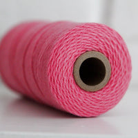 Divine Twine™ Solid Deep Pink Cotton Twine for Crafts, Scrapbooks and Packaging