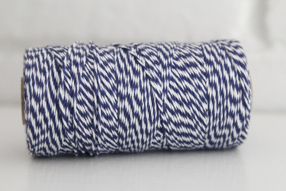 Divine Twine™ Striped Violet Blue Cotton Twine for Crafts, Scrapbooks and Packaging