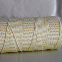 Divine Twine™ Striped Yellow Cotton Twine for Crafts, Scrapbooks and Packaging