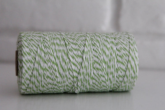 Divine Twine™ Striped Green Apple Cotton Twine for Crafts, Scrapbooks and Packaging