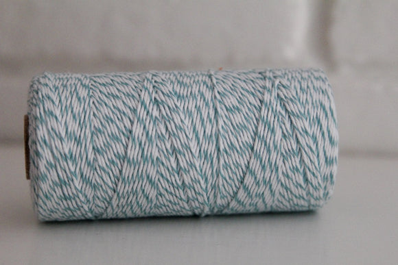 Divine Twine™ Striped Teal Cotton Twine for Crafts, Scrapbooks and Packaging