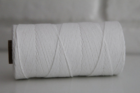 Divine Twine™ Solid White Cotton Twine for Crafts, Scrapbooks and Packaging